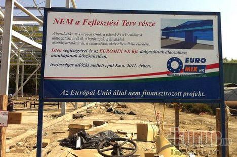 Nem EU fejlesztési keretből épül