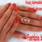 Porcelán virágos gyűrűvel