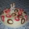 Fehércsokikrémes torta