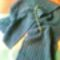 zöld horgolt stóla 140x35cm