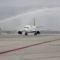 Az első Air Baltic gép ünneplése