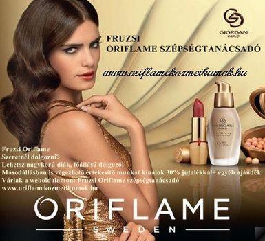 Fruzsi Oriflame szépségtanácsadó
