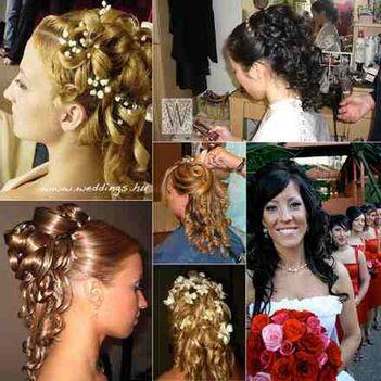 Gyönyörü frizurák, haj koronák