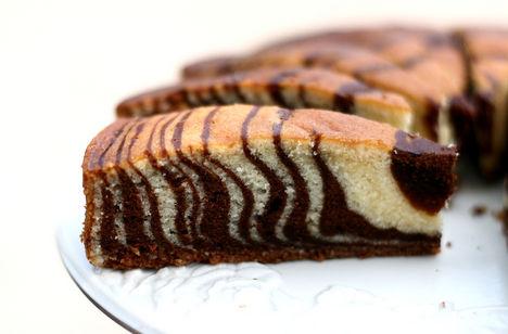 Zebra sütemény