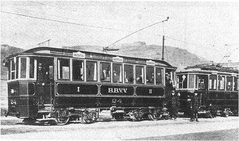 A Budapest-Budafoki Helyiérdekű Vasút (BBVV) Szerelvénye a Gellért téren