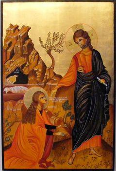 Jézus megjelenik Magdalai Máriának ikon