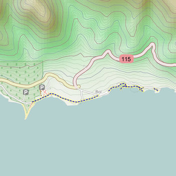 Bol térkép