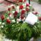 Görög alap - fejdísz rózsa és liziantus