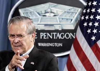 Bush háborúzó védelmi minisztere