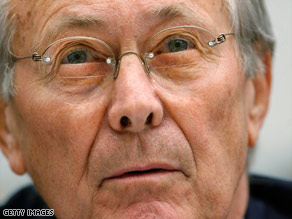 Rumsfeld-et aggasztja valami
