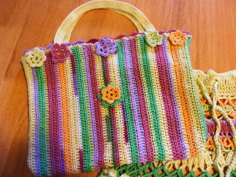 Horgolt táska