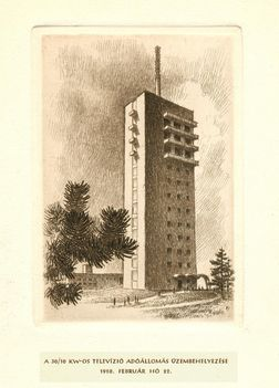 A BP Széchenyi-hegyi TV adó egy 1958-as képeslapon