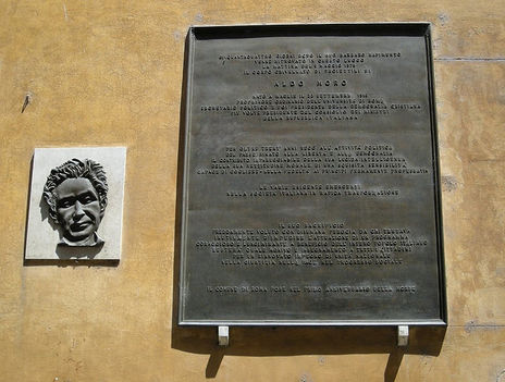 Aldo Moro emléke