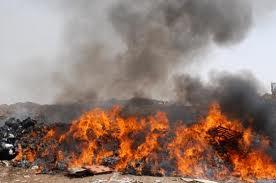 Amerikai hulladékok égetése Bagdadban