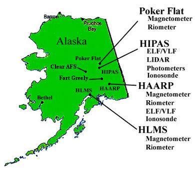 HAARP létesítmények Alaszkában