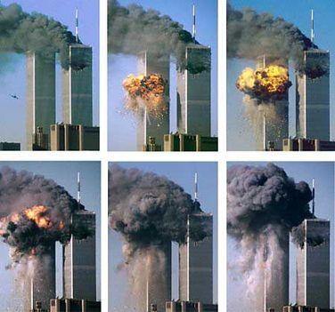 WTC a repülő becsapódása után még állt