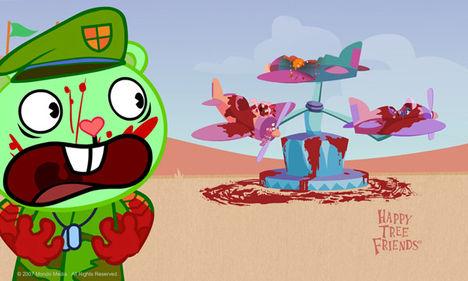 Happy Tree Friends rajzfilmmel az agressziót vadságot és félelmet terjeszti Amerika