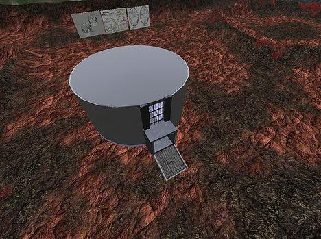 Kisérleti állomás a Marson