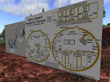 Mars állomás rajza
