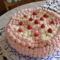 Túrókrémes málna torta