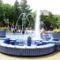 Kék Zsolnay szökőkút