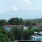 Kilátás az erkélyről az Olympos hegyre