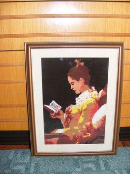Olvasó nő...Tű gobelin...