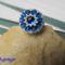 kék fehér gyűrű