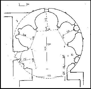 kiszombori rotunda rajza