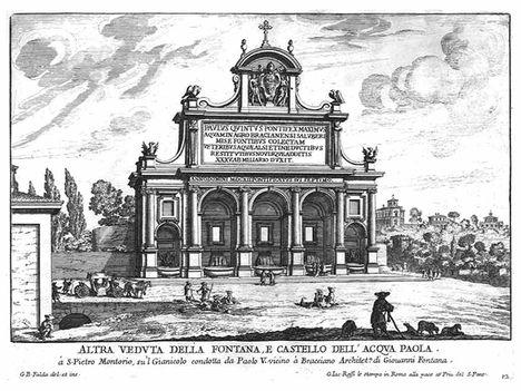 Altra veduta della fontana e castello dell'acqua Paola