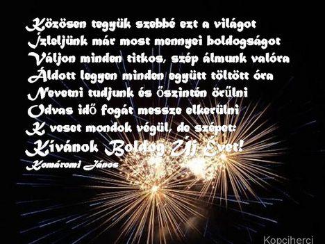 Boldog Új Évet Kívánok- Komáromi