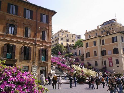 Róma: spanyol lépcső (kép)