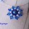 Kék - fehér medál