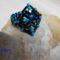 kék fekete szalmás gyűrű