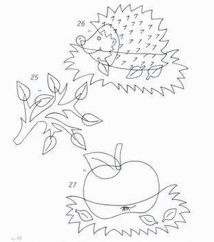 Süni dekoráció sablon