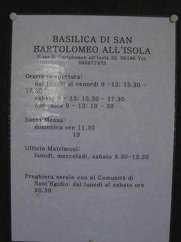 Basilica di San Bartolomeo all' Isola