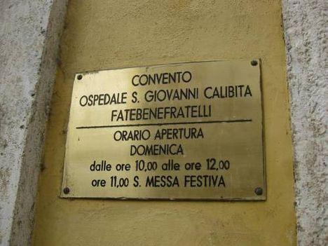 Convento Ospedale S.Giovanni Calibita Fatebenefratelli
