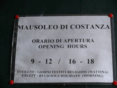 Mausoleum der Costanza & Agnes-Katakombe