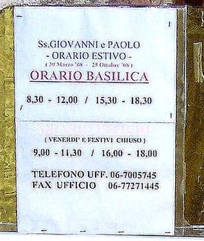 SS_Giovanni_e_Paolo_Orario