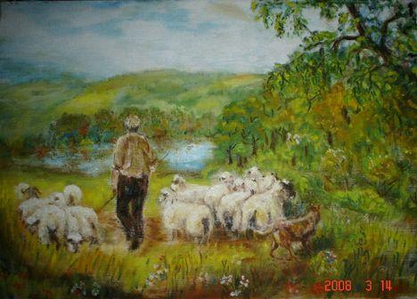 A jó pásztor /olaj/
