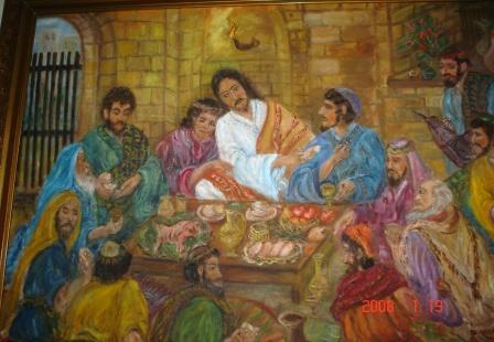 Jézus jelzi árulóját /olaj/