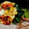 Narancs őszi menyasszonyi csokor