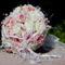 """""""Rózsaszín álom"""" menyasszonyi körcsokor habrózsából"""