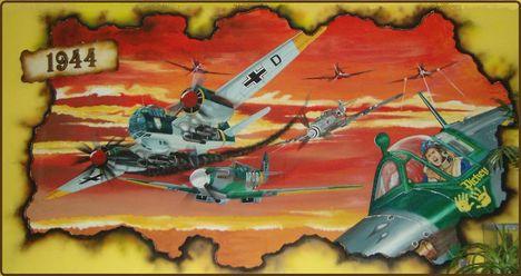 6-Légicsata 1944  4 x 2m-es falikép