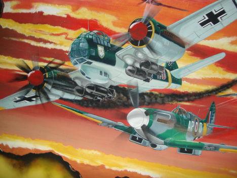 7-Ju 88 & Spitfire Mk XIV
