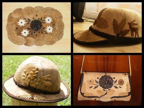 tapló ( teritö, táska, sapka , kalap)