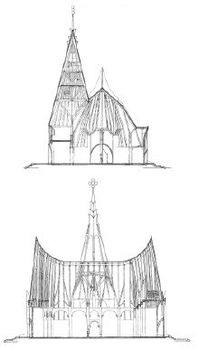 Siófok, evangélikus templom terve