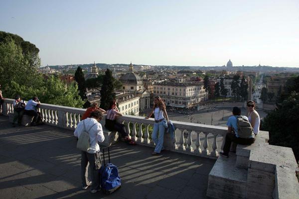 Róma: La terrazza del Pincio (kép)