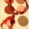 ásványos piros nyaklánc