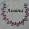 Azsúros (fehér-bordó)